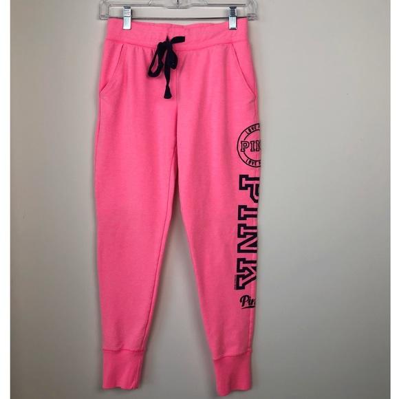 pas cher la qualité d'abord nouvelles images de PINK Victoria's Secret pink joggers jogging pants